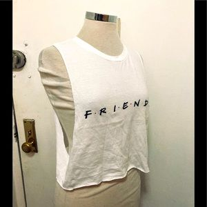 """Urban outfitters """"friends""""crop top"""